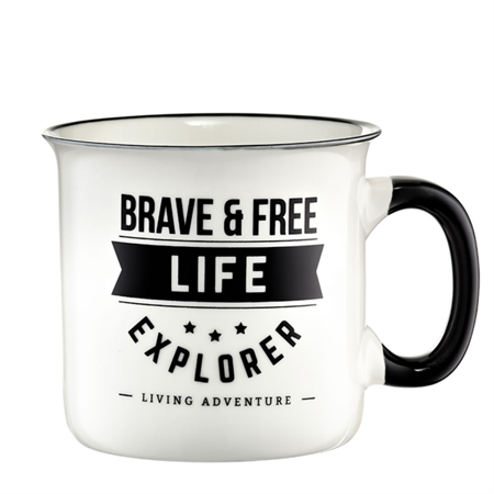Porcelanowy Kubek 510 ml Ambition Brave and Free